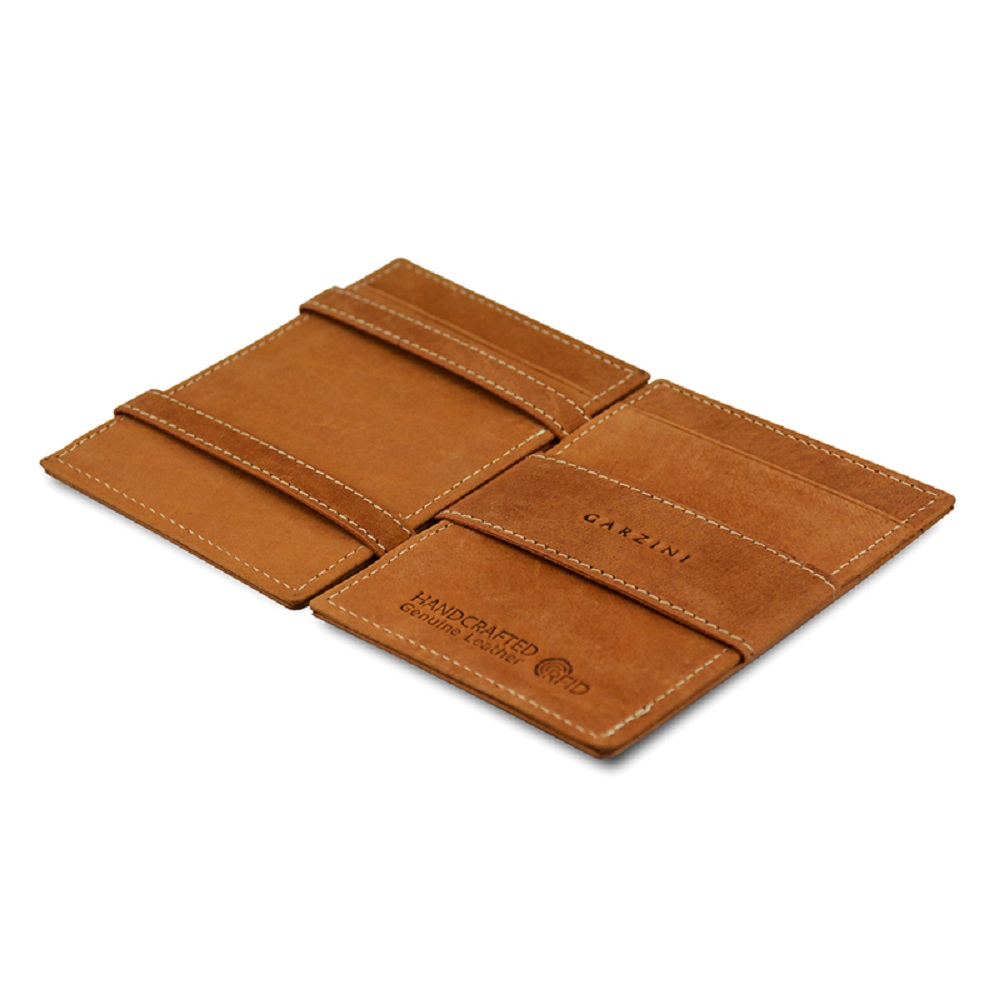 GARZINI 比利時翻轉皮夾 - 極簡款 - 淺棕色