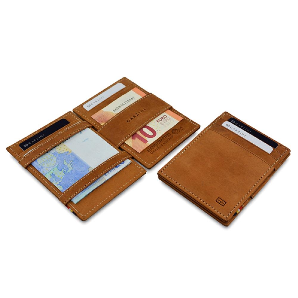 GARZINI|比利時翻轉皮夾 - 極簡款 - 淺棕色