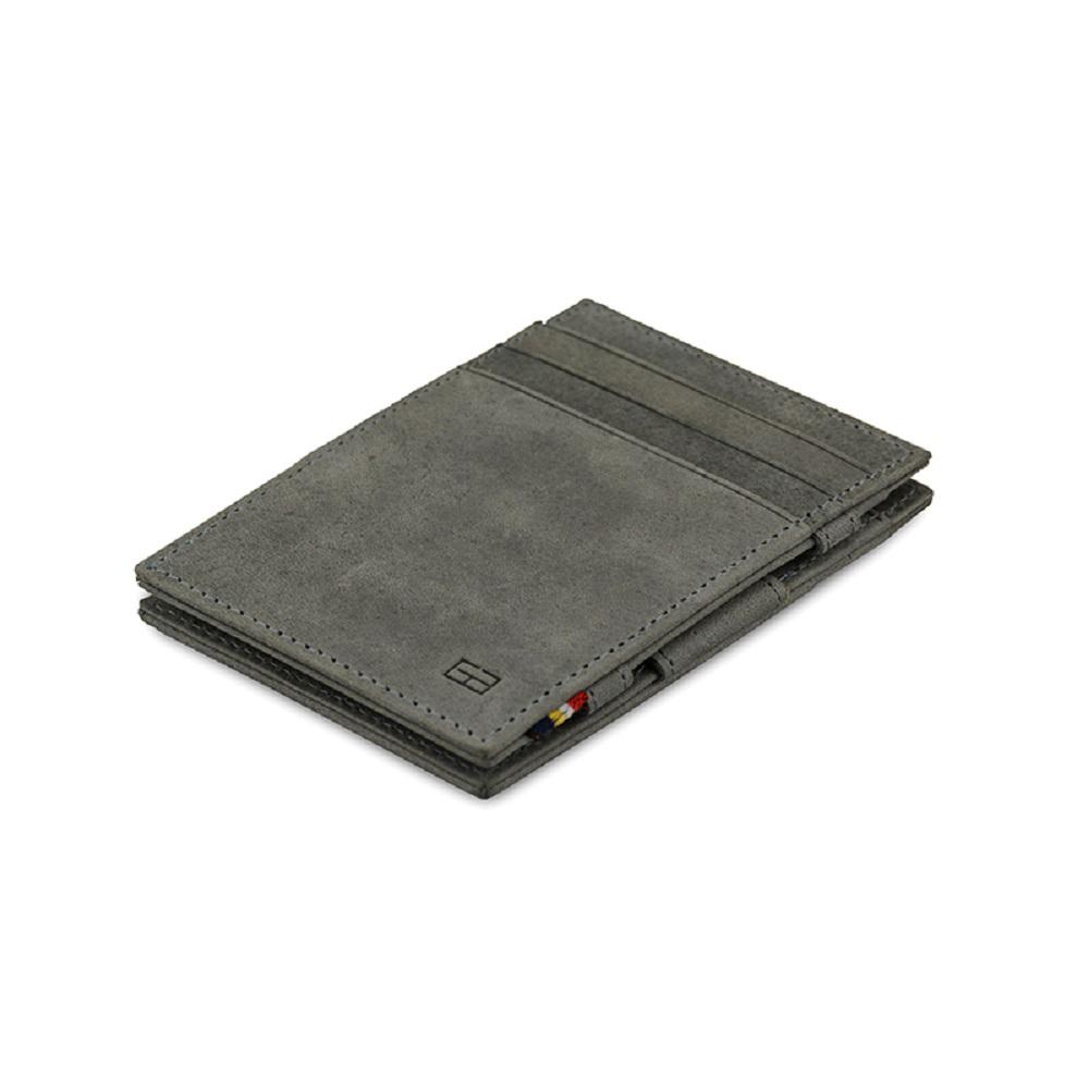 GARZINI|比利時翻轉皮夾 - 極簡款 - 淺灰色