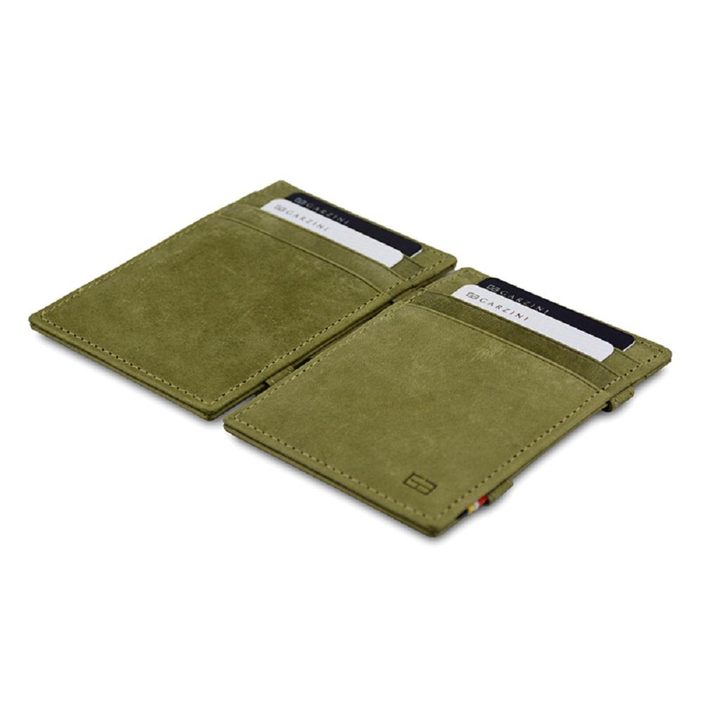 GARZINI|比利時翻轉皮夾 - 極簡款 - 綠色