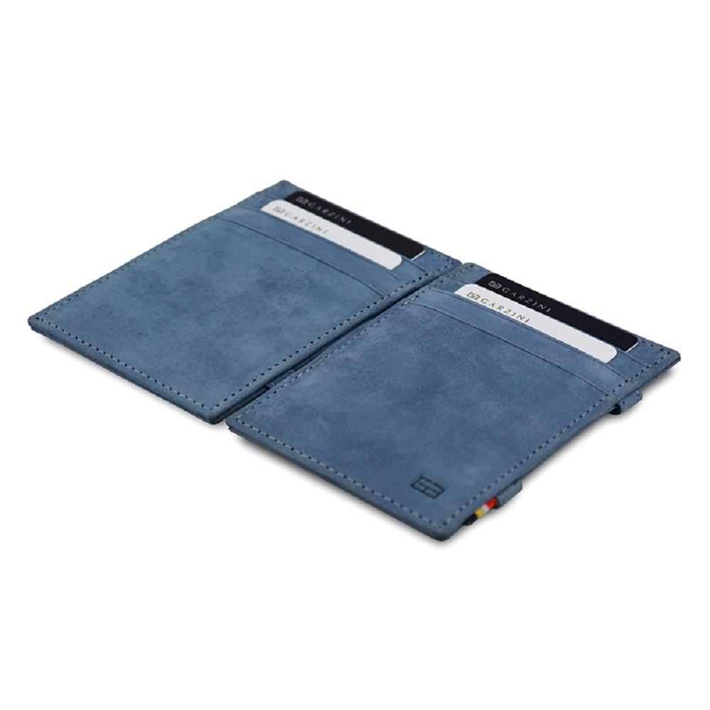 GARZINI|比利時翻轉皮夾 - 極簡款 - 藍色
