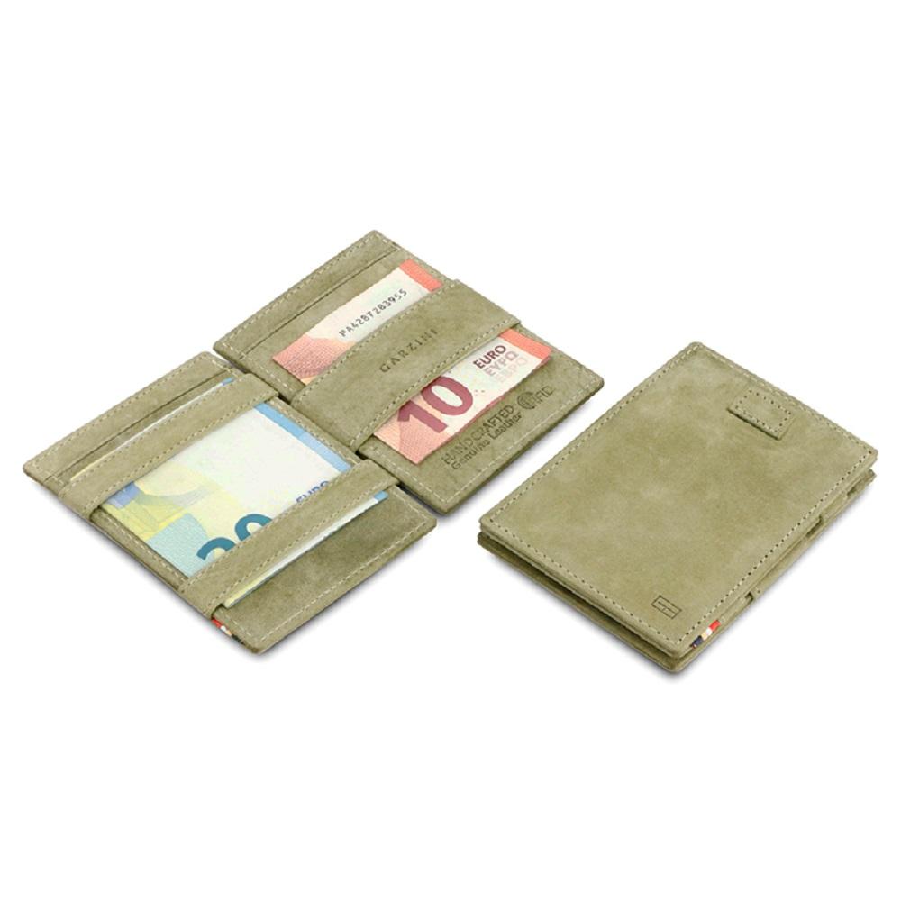 GARZINI|比利時翻轉皮夾 - 抽取款 - 綠色