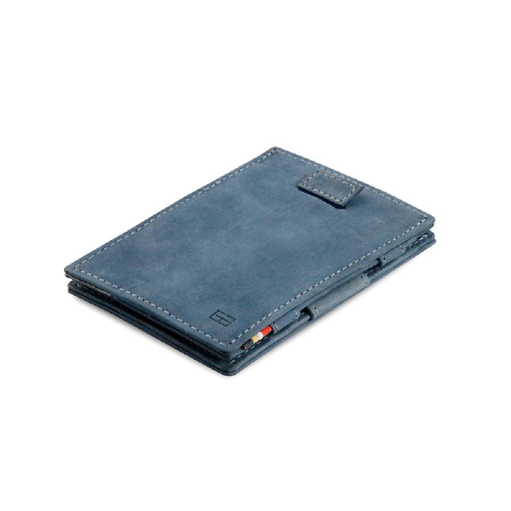 GARZINI|比利時翻轉皮夾 - 抽取款 - 藍色