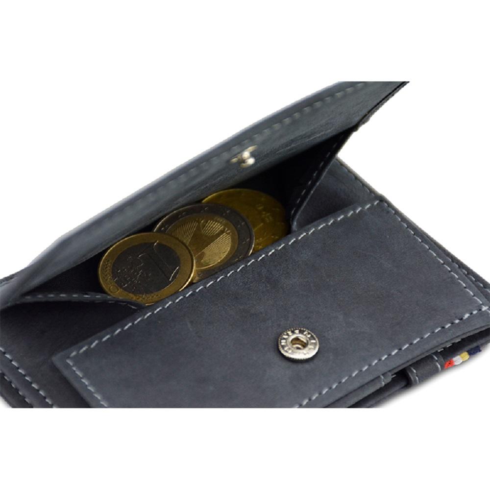 GARZINI|比利時翻轉皮夾 - 零錢袋款 - 鐵灰色