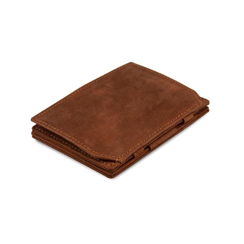 GARZINI|比利時翻轉皮夾 - 零錢袋款 - 深棕色