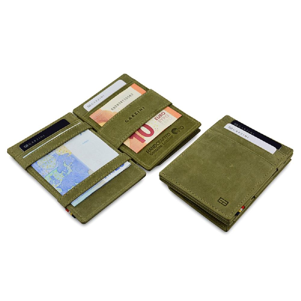 GARZINI|比利時翻轉皮夾 - 零錢袋款 - 綠色