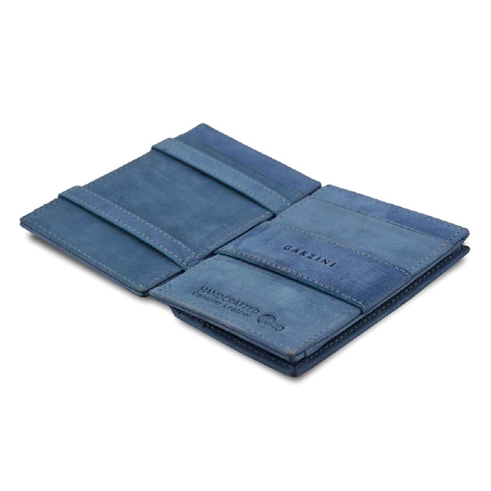 GARZINI 比利時翻轉皮夾 - 零錢袋款 - 藍色