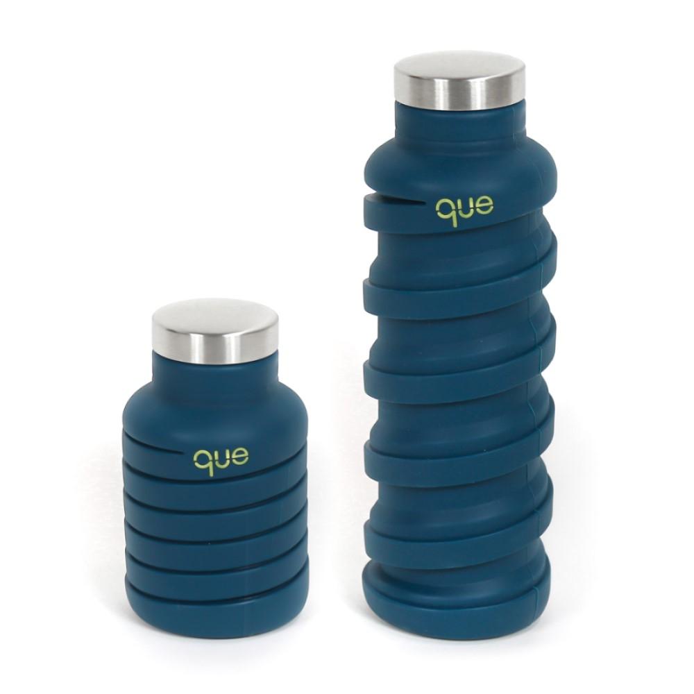 que Bottle|伸縮水瓶(600ml) - 藏青藍