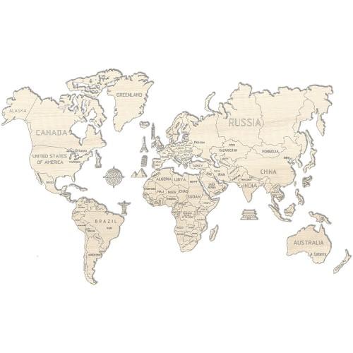 WOODEN CITY 動力模型 - 世界地圖 - L