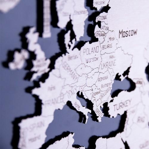 WOODEN CITY|動力模型 - 世界地圖 - L