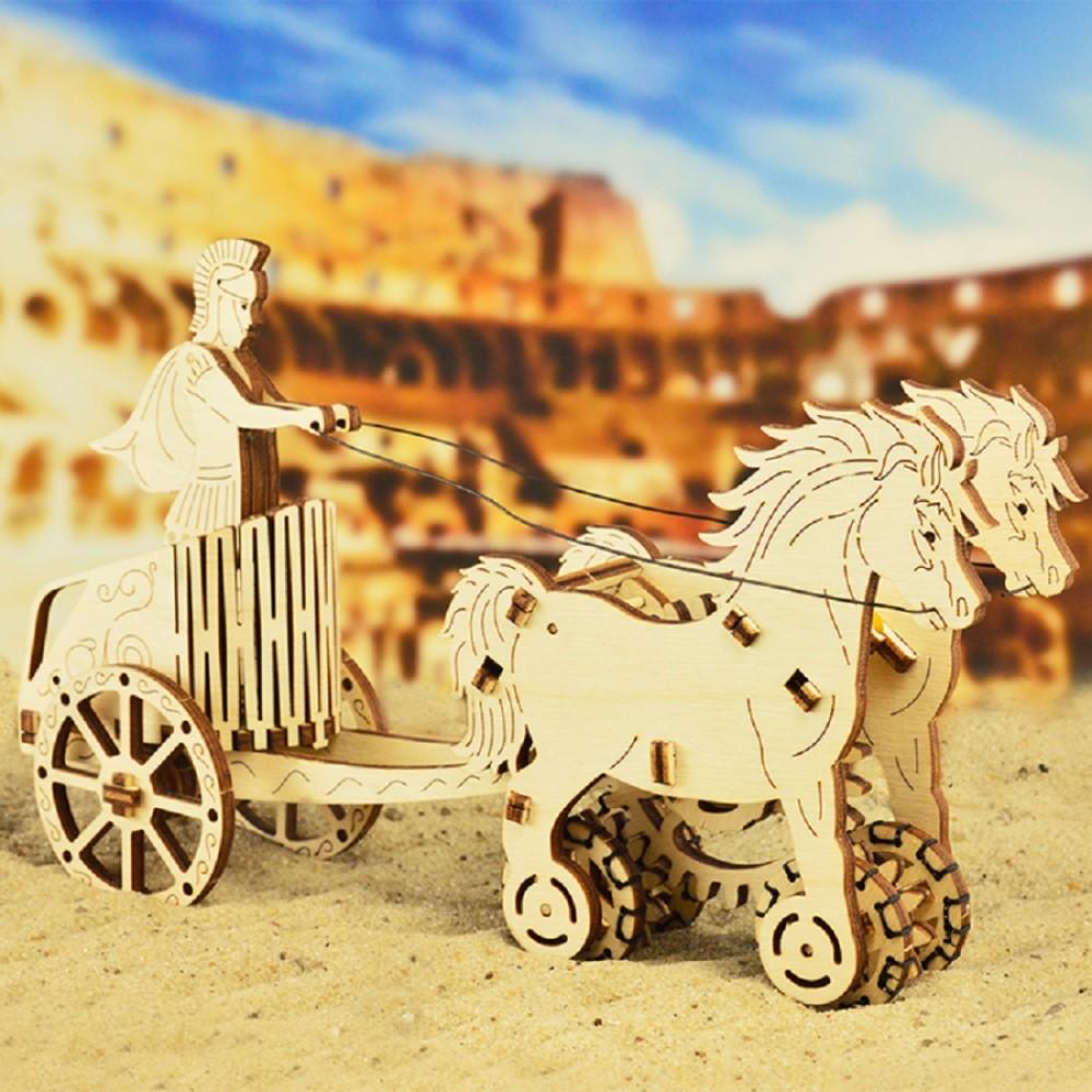 WOODEN CITY 動力模型 - 羅馬戰車