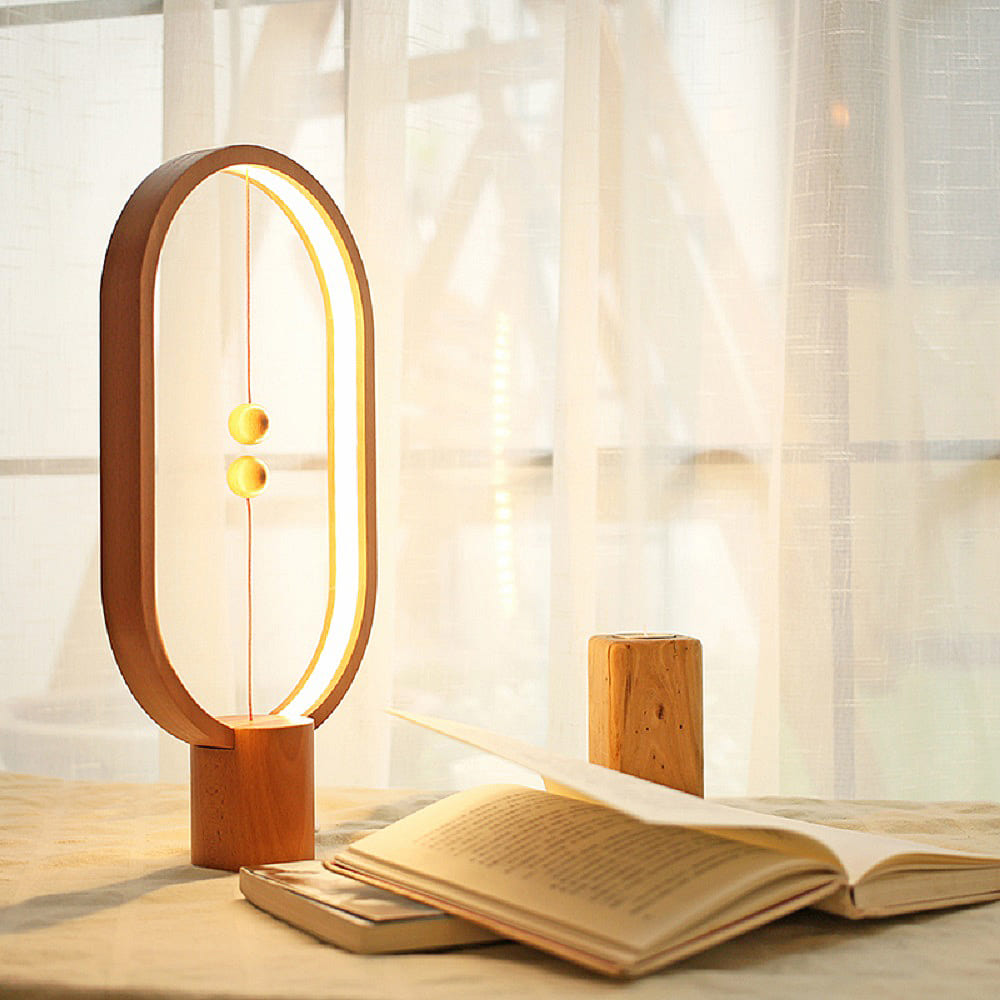Allocacoc Heng Balance Lamp 衡 原木燈 - 淺色方形