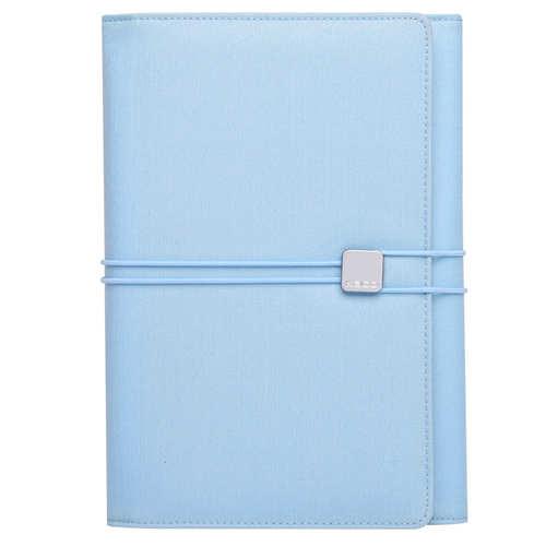 KACO|ALIO 商務A5筆記包 - 三層款 - 粉藍色