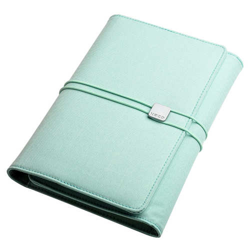 KACO|ALIO 商務A5筆記包 - 三層款 - 粉綠色