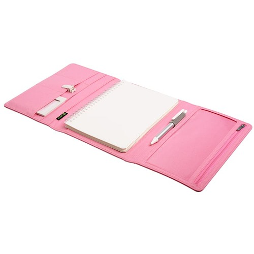 KACO|ALIO 商務A5筆記包 - 三層款 - 粉紅色
