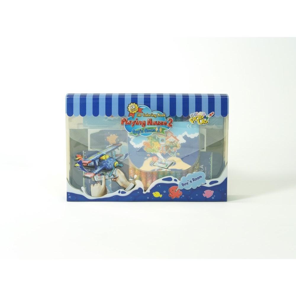 VUIDEA|AR兒童英語教學繪本/遊戲屋/男孩的房間