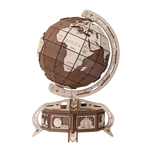 WOODEN CITY|動力模型 - 地球儀 - 棕色