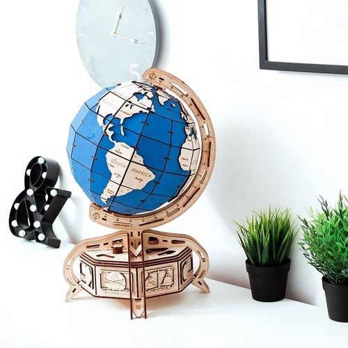 WOODEN CITY|動力模型 - 地球儀 - 藍色
