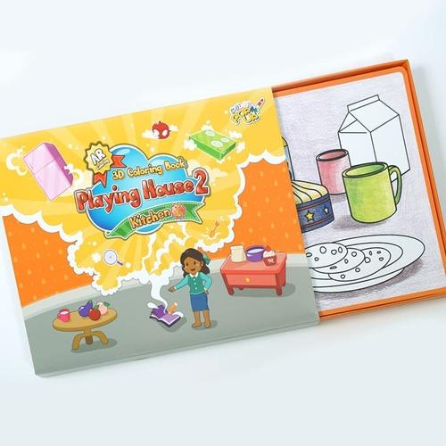 VUIDEA|AR兒童英語教學繪本 + 無毒蠟筆組 - 男孩的房間/美味廚房/歡樂客廳(男生組合)