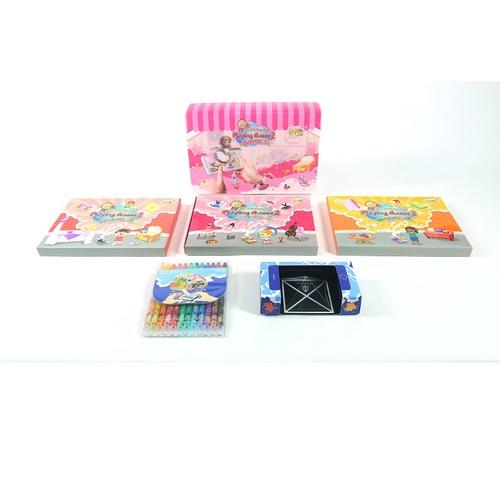 VUIDEA AR兒童英語教學繪本 + 無毒蠟筆組 - 女孩的房間/芭蕾娃娃/美味廚房(女生組合)
