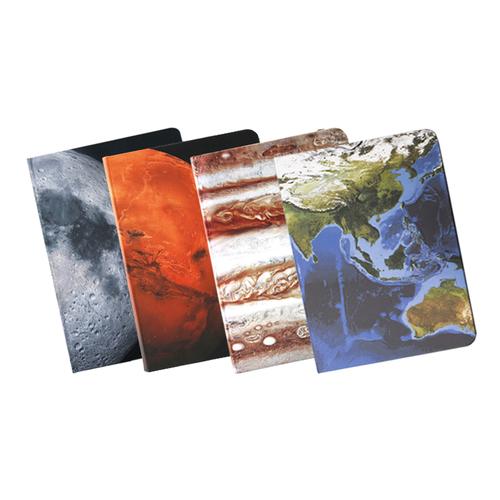 Astroreality |AR 筆記本 (地球/月球/火星/木星 各一) 4入組