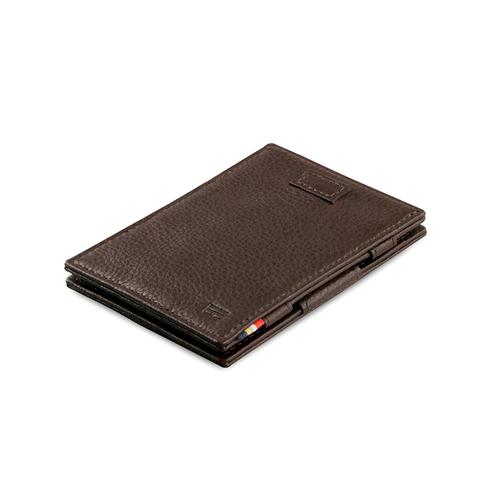 GARZINI|比利時翻轉皮夾 - 壓紋 - 抽取款 - 暗棕色