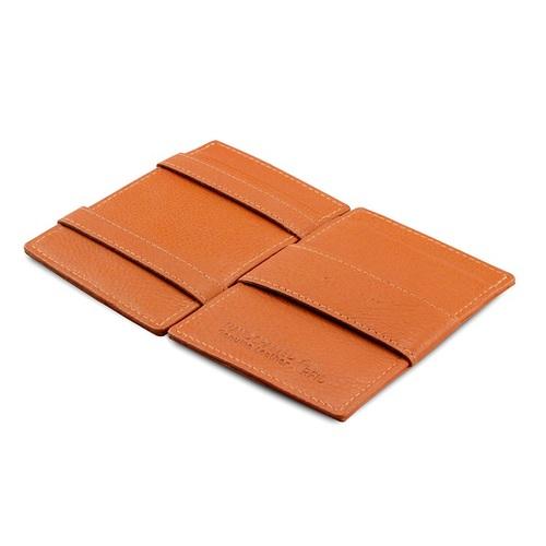 GARZINI|比利時翻轉皮夾 - 壓紋 - 抽取款 - 亮棕色