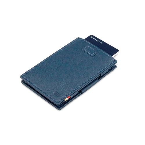 GARZINI|比利時翻轉皮夾 - 壓紋 - 抽取款 - 深藍色