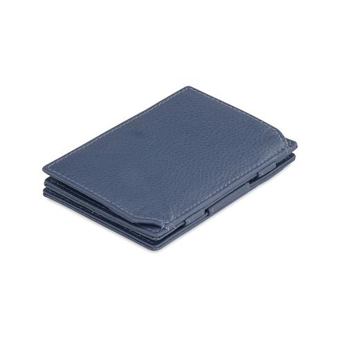 GARZINI|比利時翻轉皮夾 - 壓紋 - 零錢袋款 - 深藍色