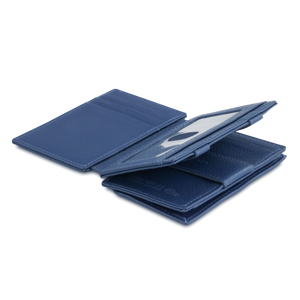 GARZINI|比利時翻轉皮夾 - 壓紋 - 旗艦款 - 深藍色