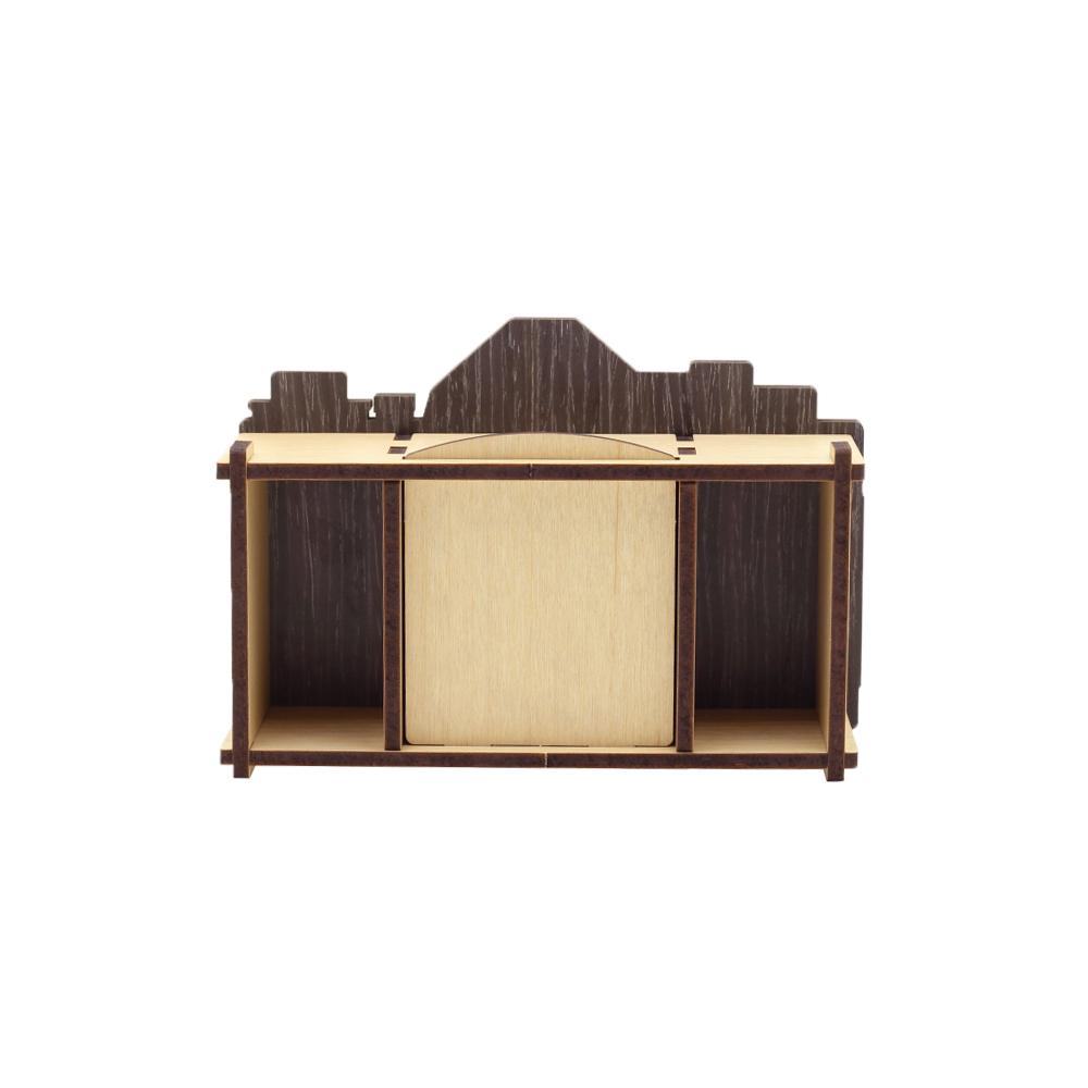 WOODSUM|輕手作。木製模型 - 復古相機時鐘 - 黑色款