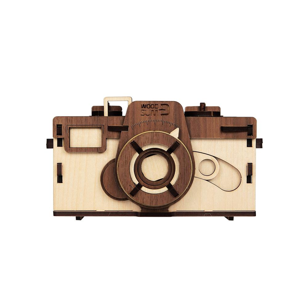 WOODSUM 輕手作。木製模型 - 35mm針孔相機 - 淺色款