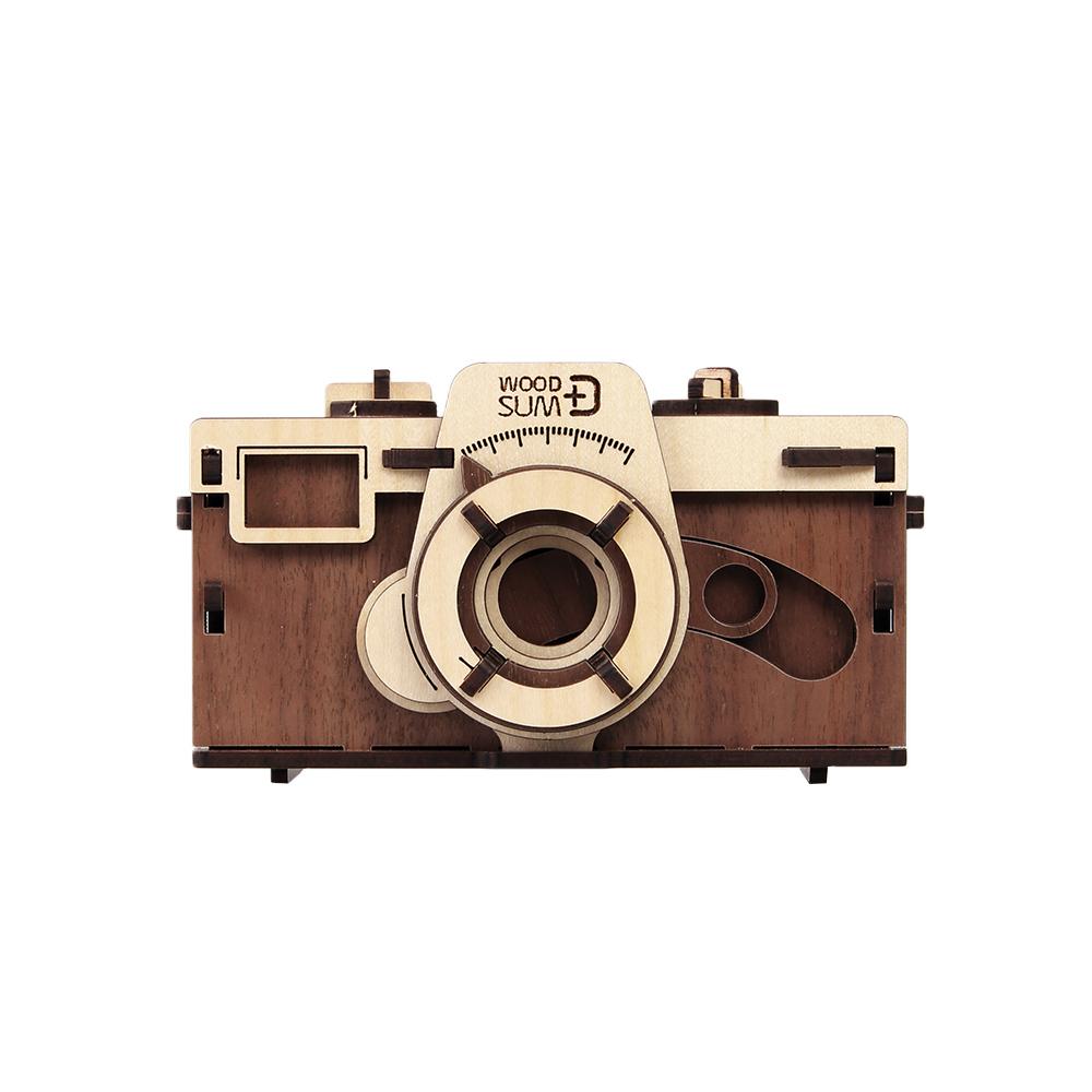WOODSUM|輕手作。木製模型 - 35mm針孔相機 - 深色款