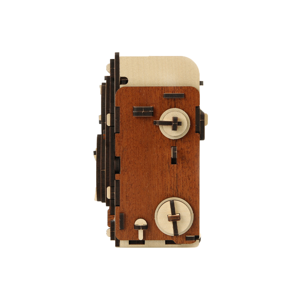 WOODSUM 輕手作。木製模型 - 35mm雙眼針孔相機