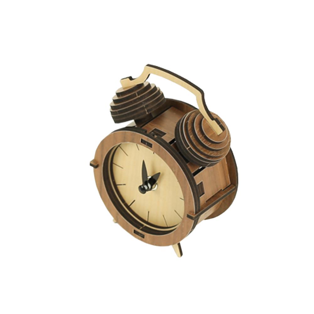 WOODSUM 輕手作。木製模型 - 經典雙鈴造型鐘