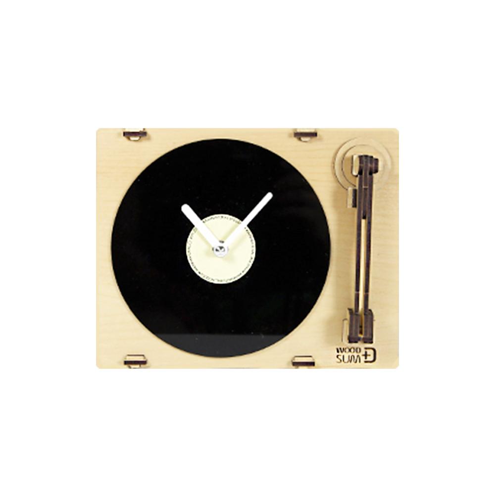 WOODSUM|輕手作。木製模型 - 黑膠唱片機時鐘