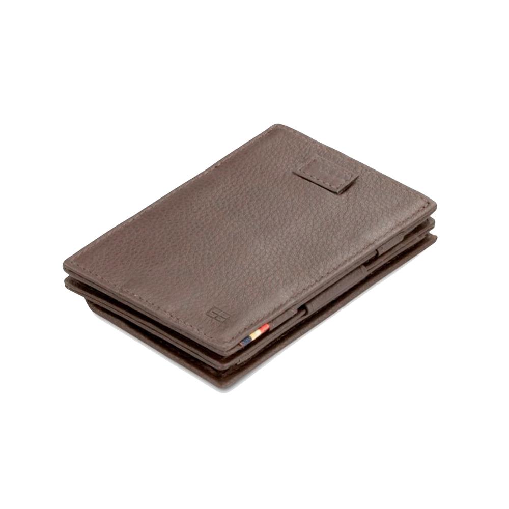 GARZINI|比利時翻轉皮夾 - 抽取零錢袋款 - 壓紋 - 暗棕色