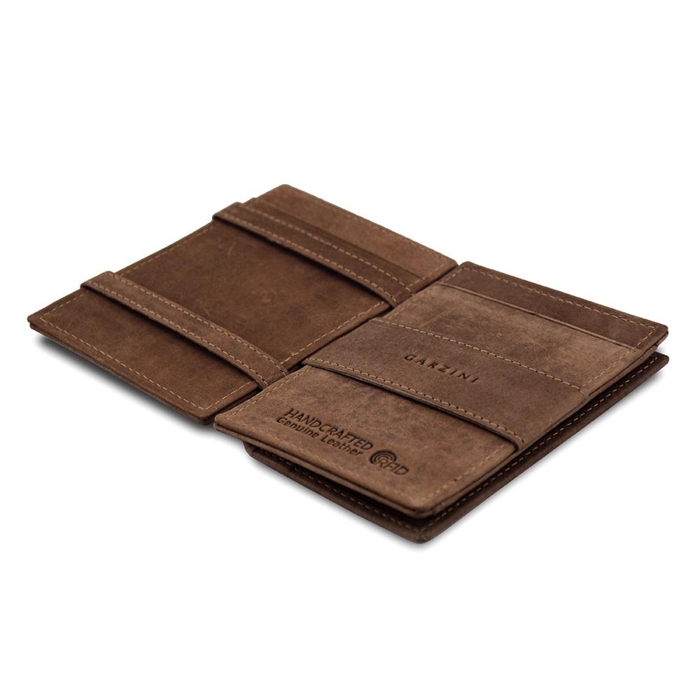 GARZINI|比利時翻轉皮夾 - 抽取零錢袋款 - 深棕色