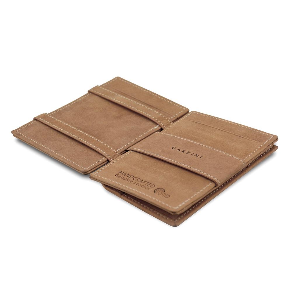 GARZINI|比利時翻轉皮夾 - 抽取零錢袋款 - 淺棕色