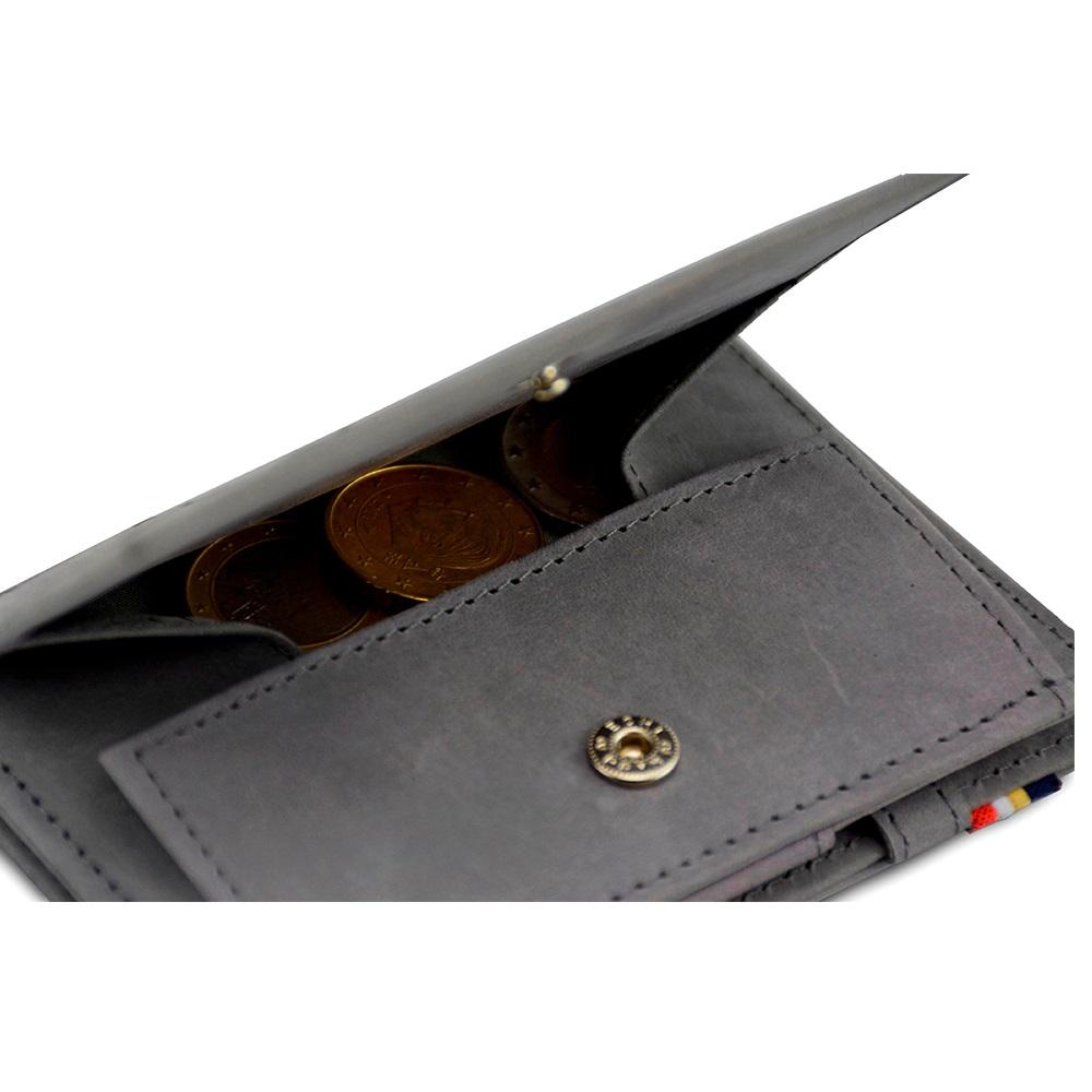 GARZINI|比利時翻轉皮夾 - 抽取零錢袋款 - 淺灰色