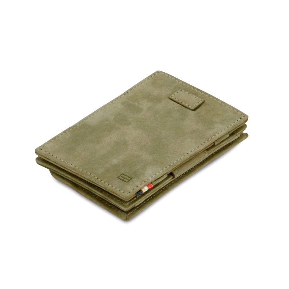 GARZINI|比利時翻轉皮夾 - 抽取零錢袋款 - 綠色