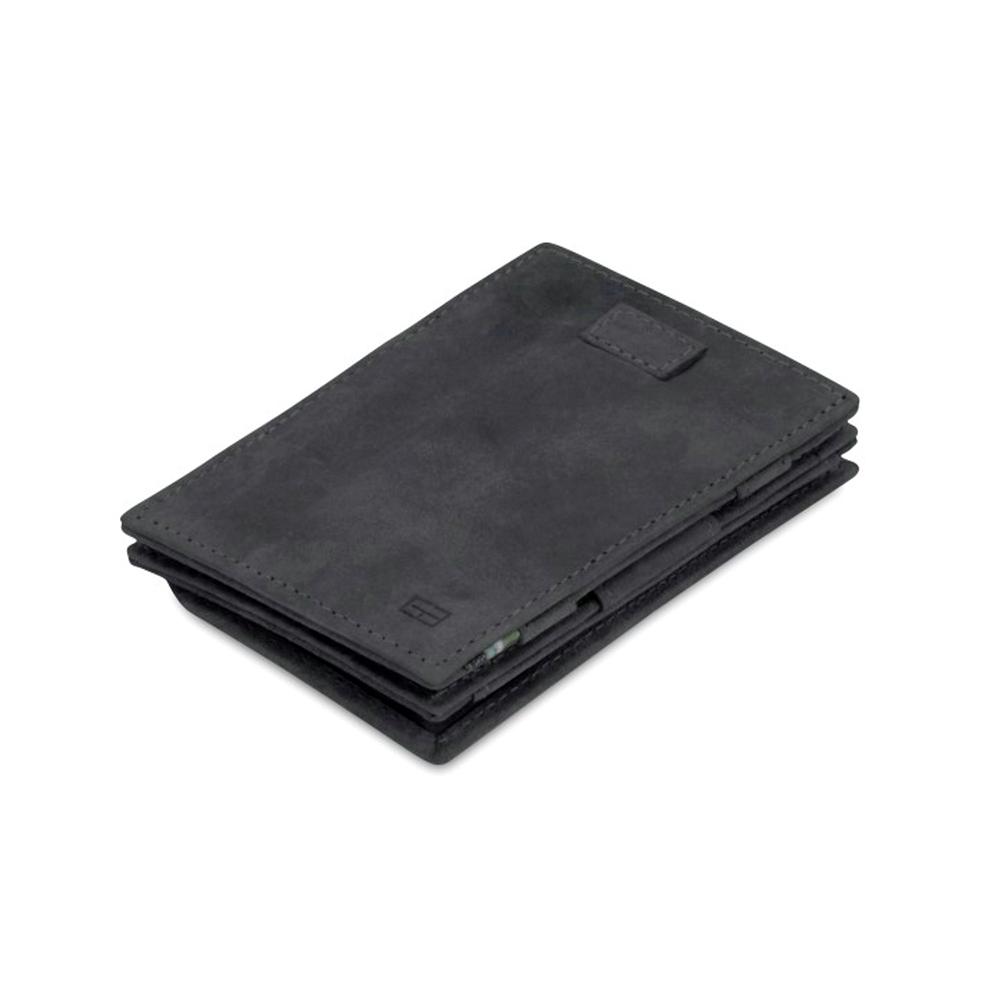 GARZINI|比利時翻轉皮夾 - 抽取零錢袋款 - 鐵灰色