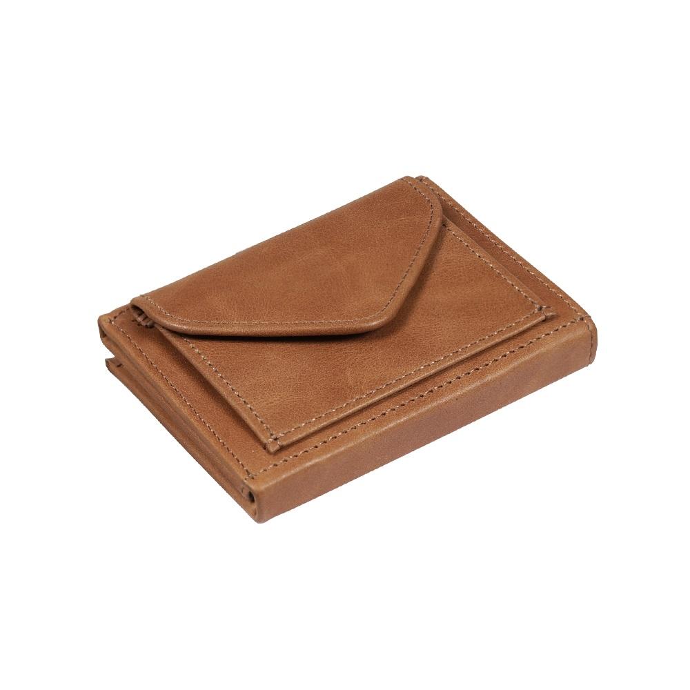 EXENTRI|挪威紳士皮夾 - 零錢袋款 - 淺棕色