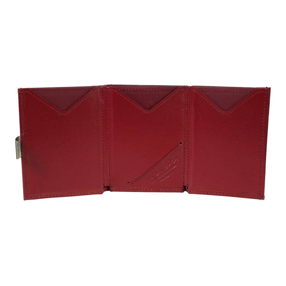 EXENTRI 挪威紳士皮夾 - 經典款 - 朱紅色