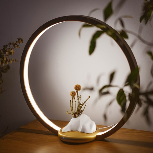 FOOKOO|一抹光景 LED檯燈/原木款 - 半山瓶