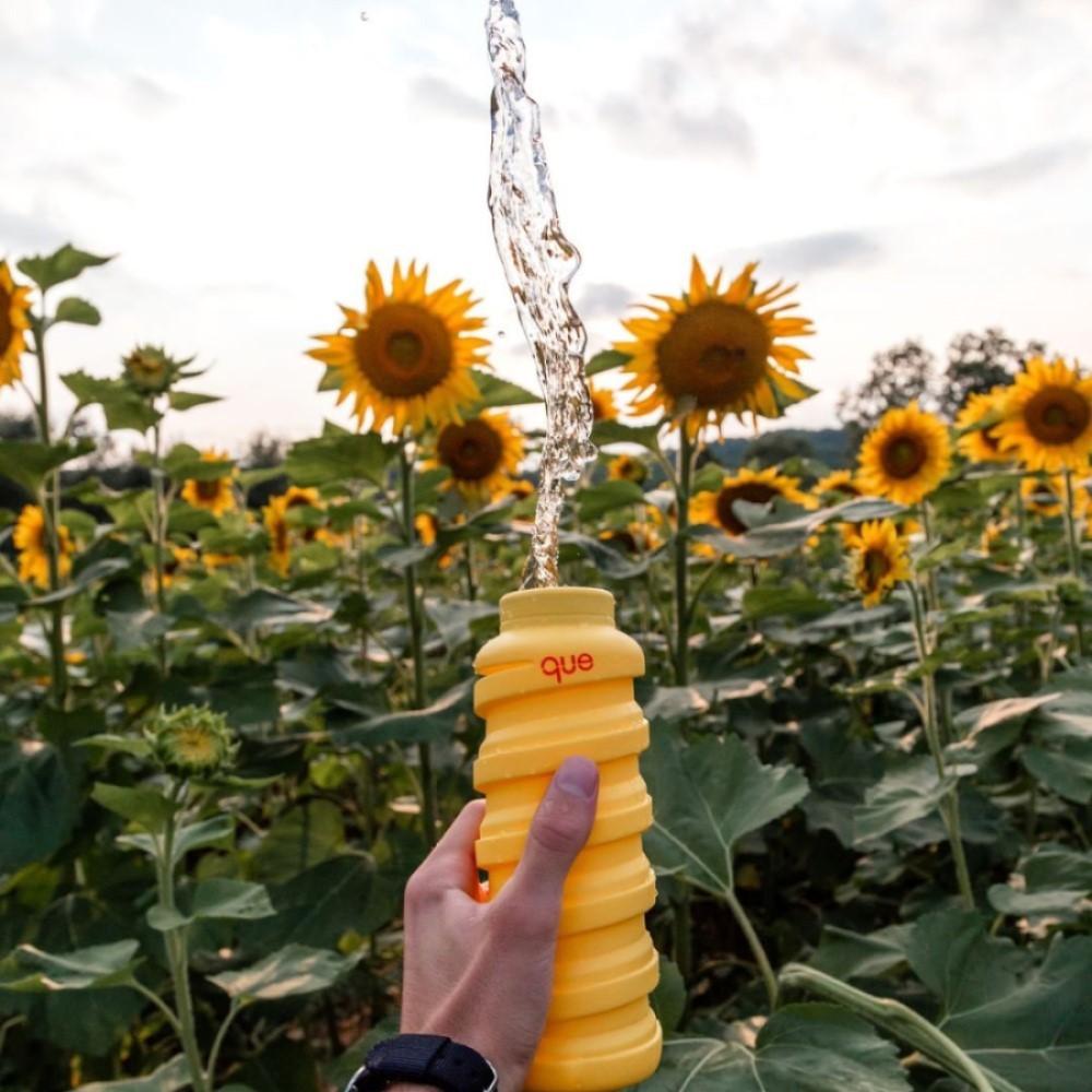 que Bottle|伸縮水瓶(600ml) - 豔陽黃