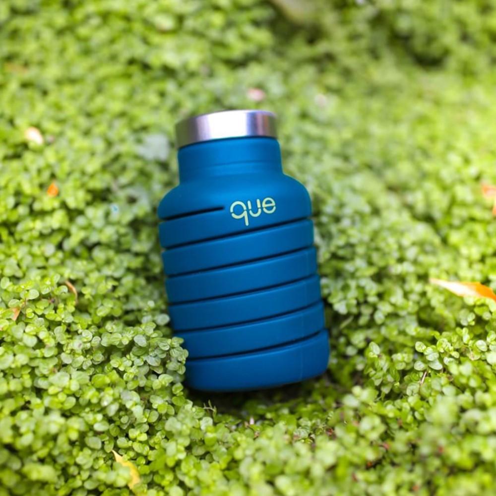 que Bottle 伸縮水瓶(600ml) - 藏青藍