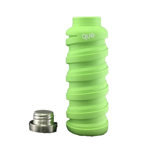 que Bottle|伸縮水瓶(600ml) - 螢光綠