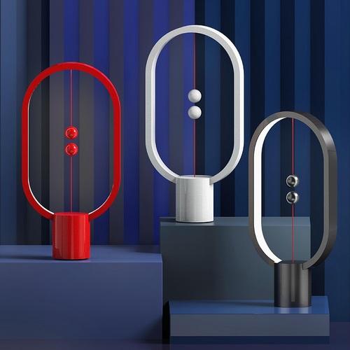 ZAN DESIGN|HengPRO 衡 LED檯燈 2.0 烤漆款 - 橢圓形 - 紅色