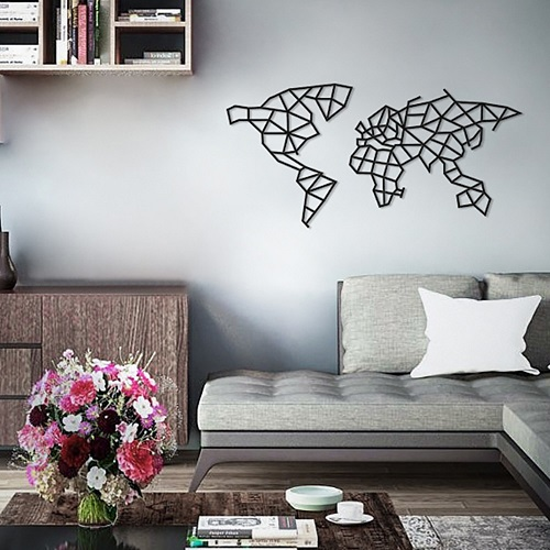 EWA|實木壁飾 -  世界地圖